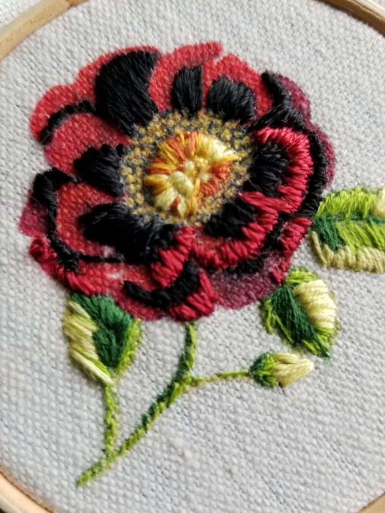 Embroidery Vintage Rose 30 Day Project