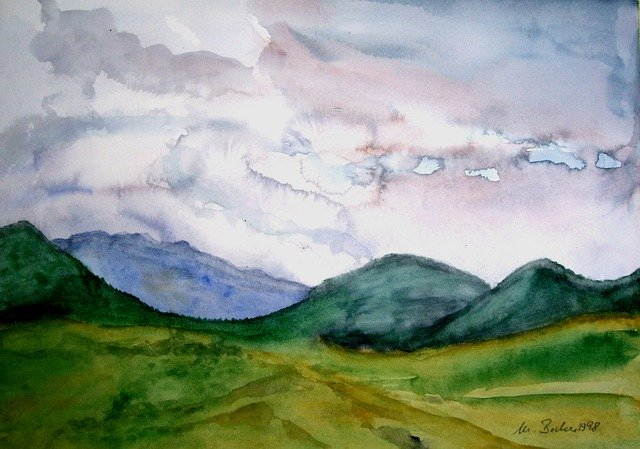 example of watercolor painting