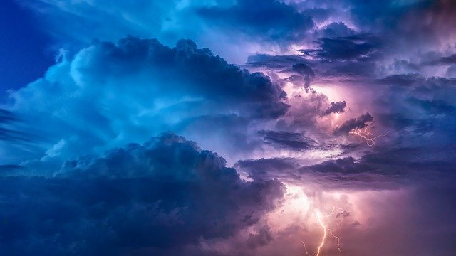 Brainstorming - a beautiful storm of clouds symbolizes gathering thoughts
